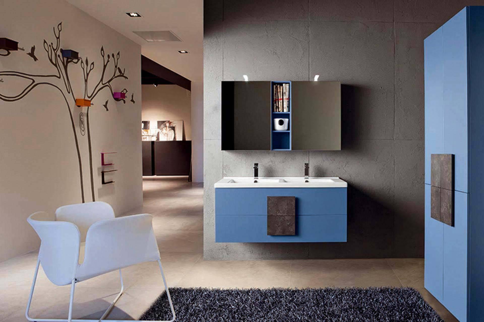 Bagni azzurri moderni free bagno moderno in legno in ceramica in
